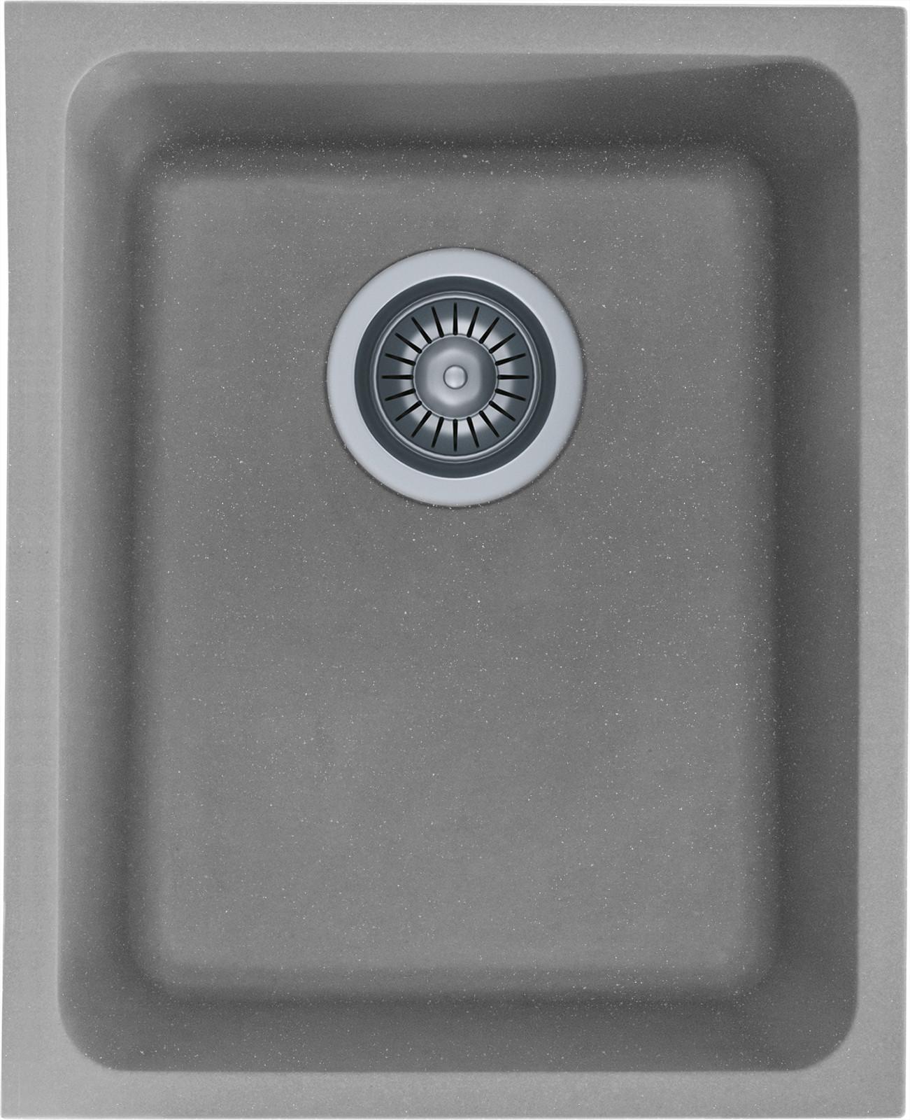 Zlewozmywak granitowy Kernau KGS U 45 1B Grey Metallic