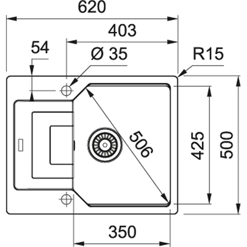 Zlewozmywak granitowy Franke UBG 611-62 Onyx