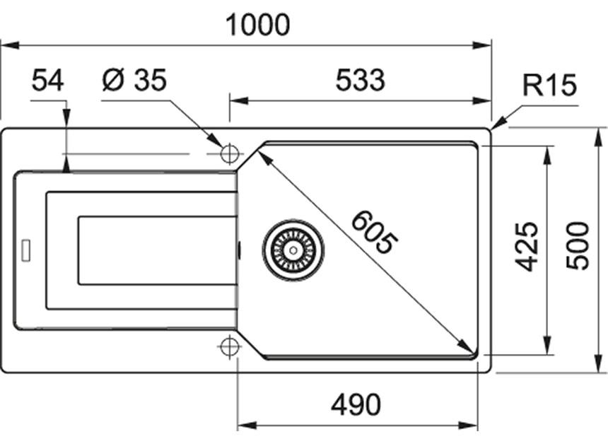 Zlewozmywak granitowy Franke UBG 611-100 Onyx