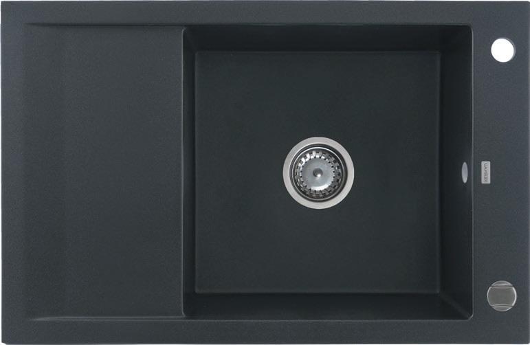 Zlewozmywak granitowy Kernau KGS M 6078 1B1D Black Metallic